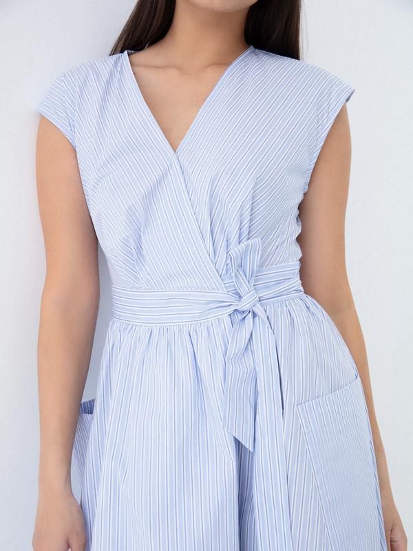 Платье из 100% хлопка с карманами - фото 3