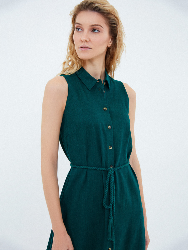 Платье с открытыми плечами - фото 2