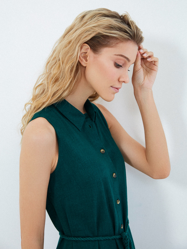Платье с открытыми плечами - фото 3