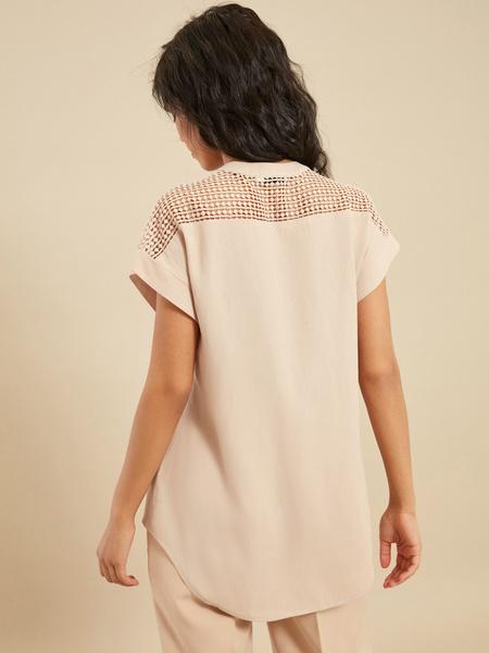 Блузка с ажурной вставкой - фото 3
