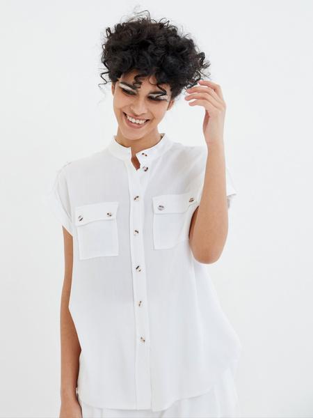 Блузка с коротким рукавом - фото 3