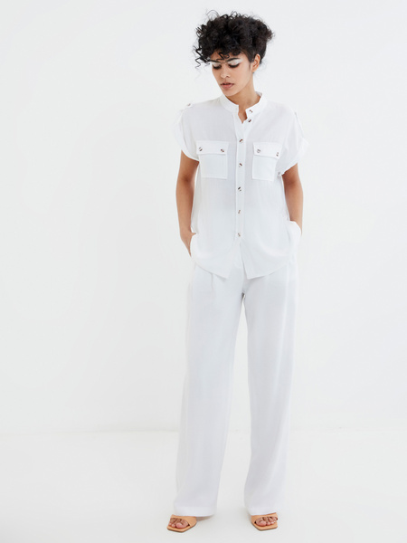 Блузка с коротким рукавом - фото 7