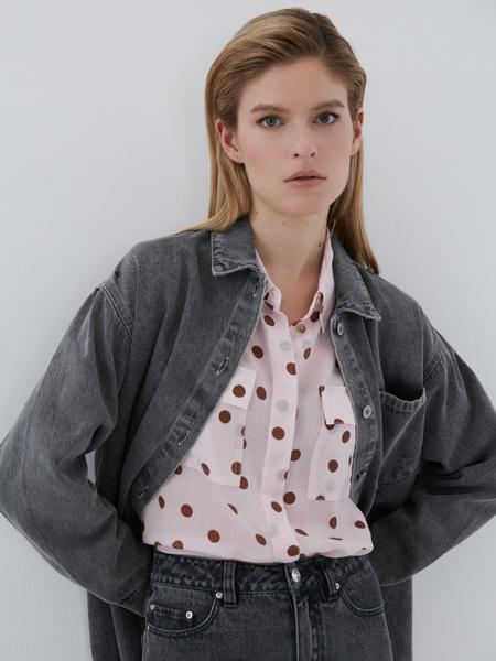 Блузка с карманами - фото 1
