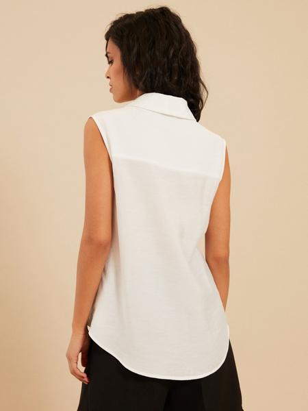 Блузка с открытыми плечами - фото 4