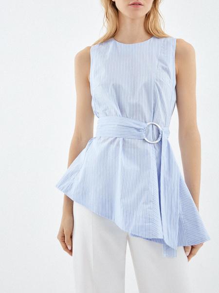Блузка из 100% хлопка с асимметрией - фото 2