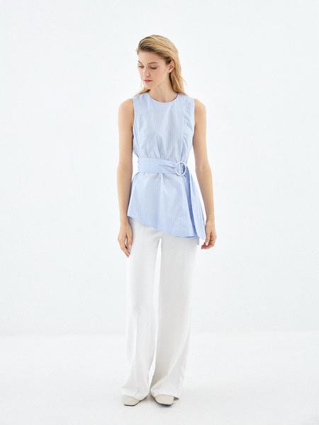 Блузка из 100% хлопка с асимметрией - фото 4