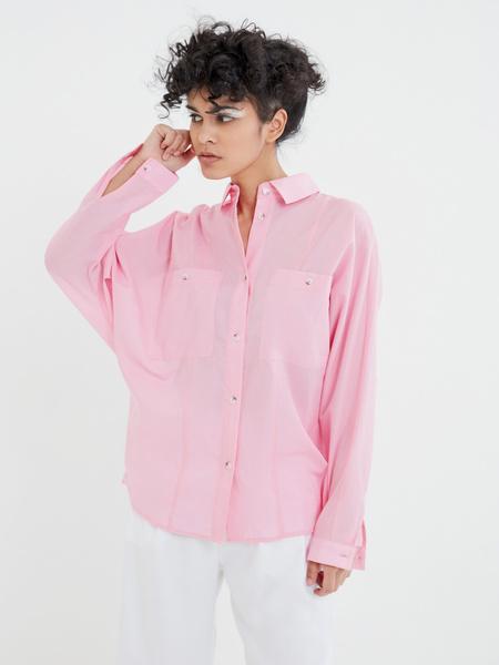 Блузка с карманами на груди - фото 3