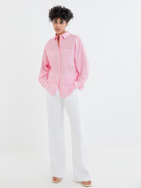 Блузка с карманами на груди - фото 6