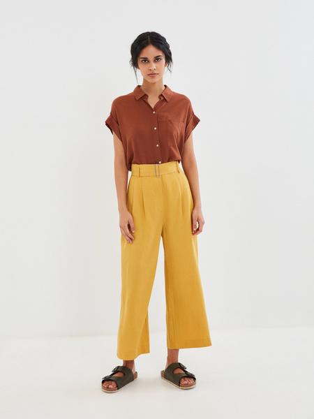 Блузка с карманом на груди - фото 9