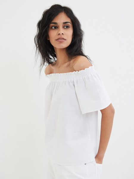 Блузка с открытыми плечами - фото 3