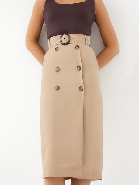 Прямая юбка на пуговицах - фото 2
