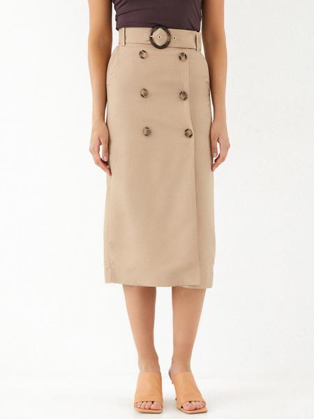 Прямая юбка на пуговицах - фото 3