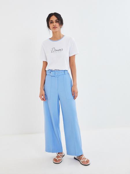 Прямые брюки с поясом - фото 6