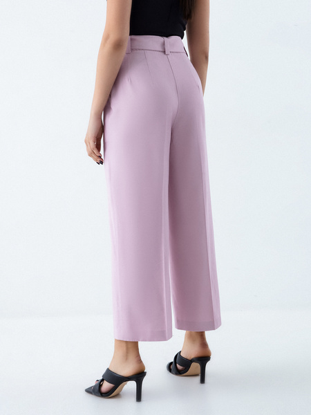 Прямые брюки с поясом - фото 5