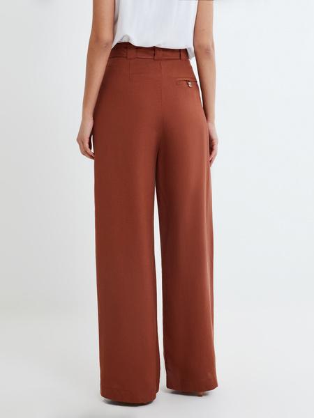 Широкие брюки с поясом - фото 4