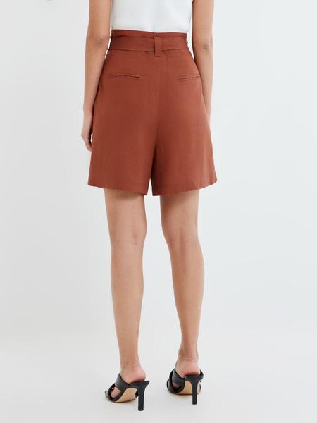 Однотонные шорты с поясом - фото 4