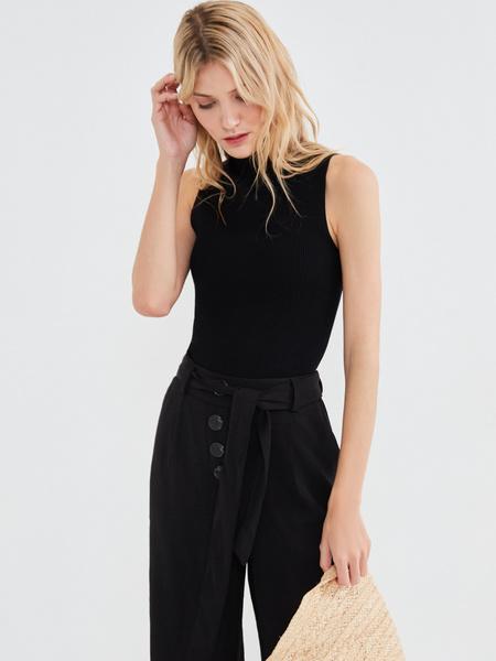 Широкие брюки с поясом - фото 5