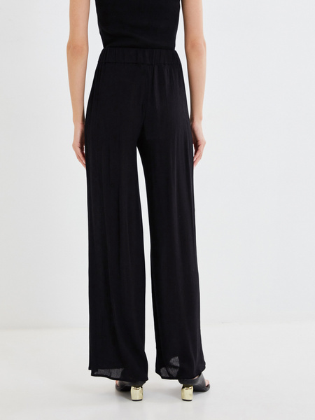 Широкие брюки с поясом-шнурком - фото 3