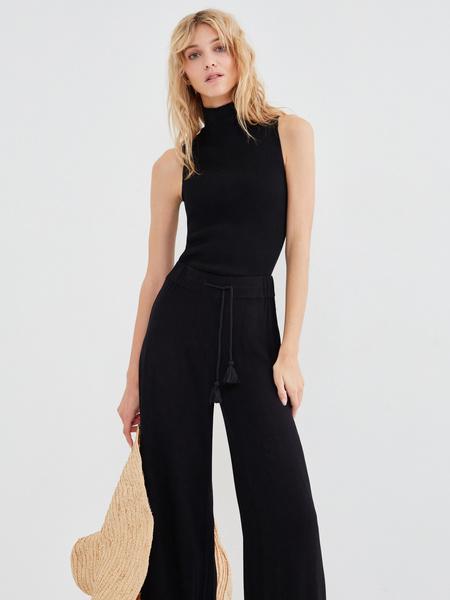 Широкие брюки с поясом-шнурком - фото 4