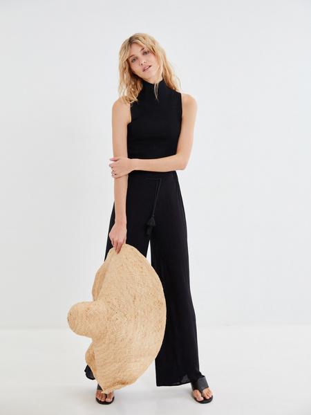 Широкие брюки с поясом-шнурком - фото 5