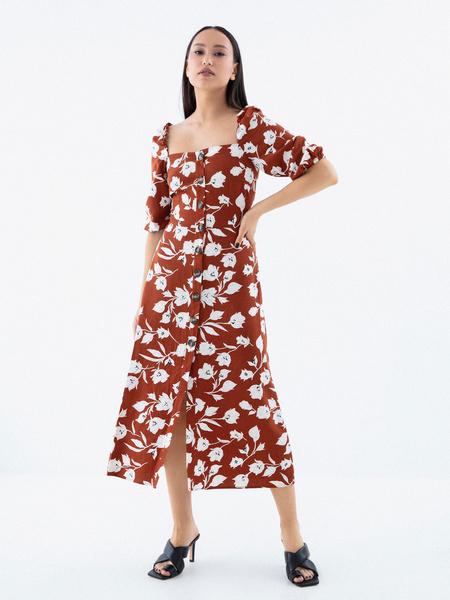 Платье с рукавами 3/4 - фото 4
