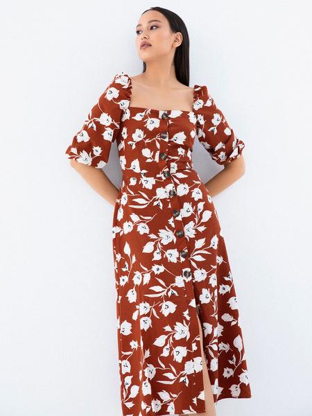 Платье с рукавами 3/4 - фото 5