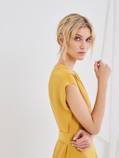 Платье со сборкой на боку - фото 5