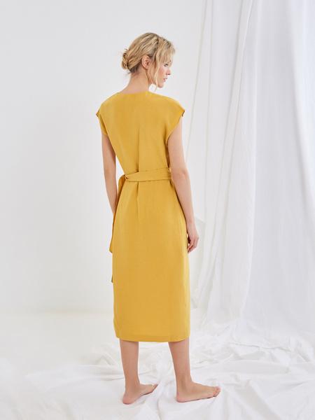 Платье со сборкой на боку - фото 6