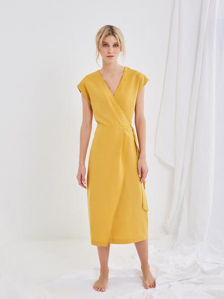 Платье со сборкой на боку - фото 7