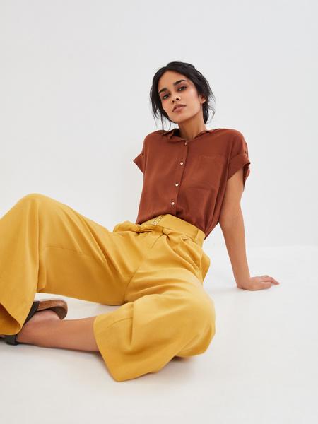 Широкие брюки с поясом - фото 7
