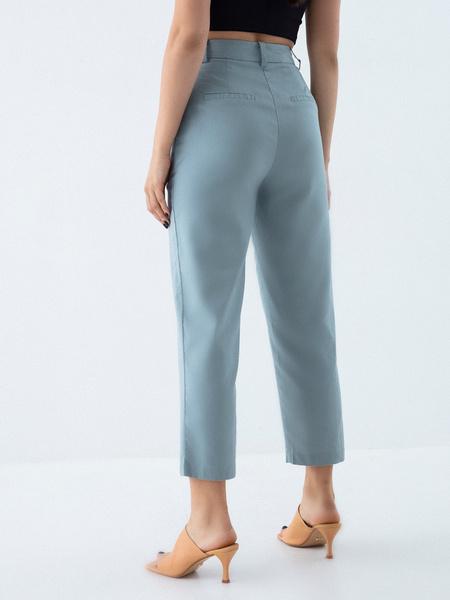 Прямые брюки из льна и хлопка - фото 4