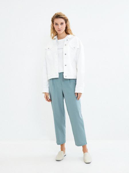 Прямые брюки из льна и хлопка - фото 7