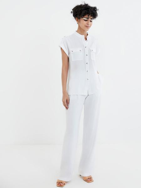 Широкие белые брюки - фото 2