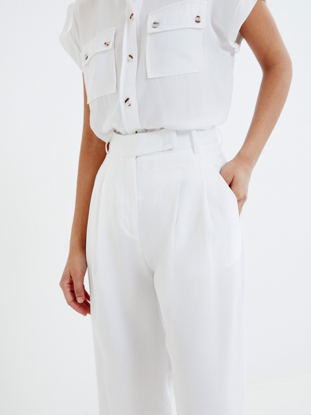 Широкие белые брюки - фото 3