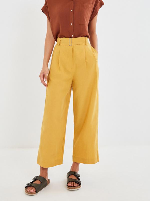 Широкие брюки с поясом - фото 2