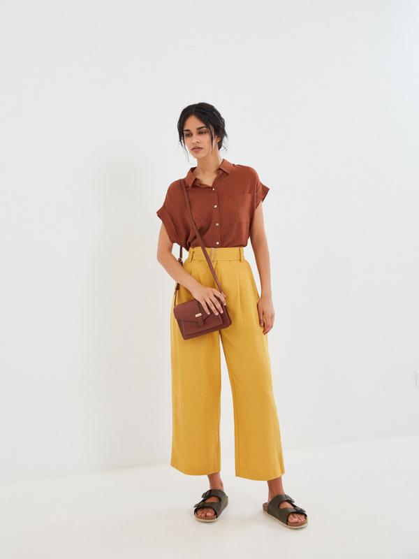 Широкие брюки с поясом - фото 6