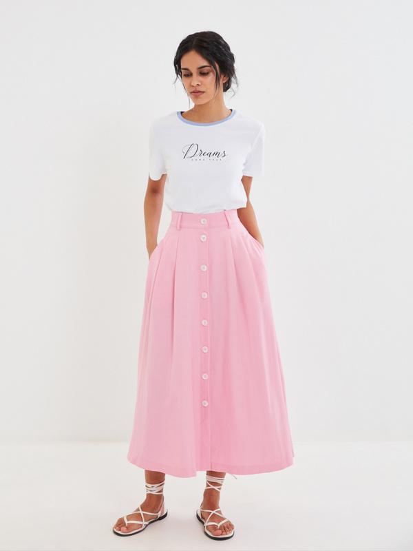 Миди-юбка на пуговицах