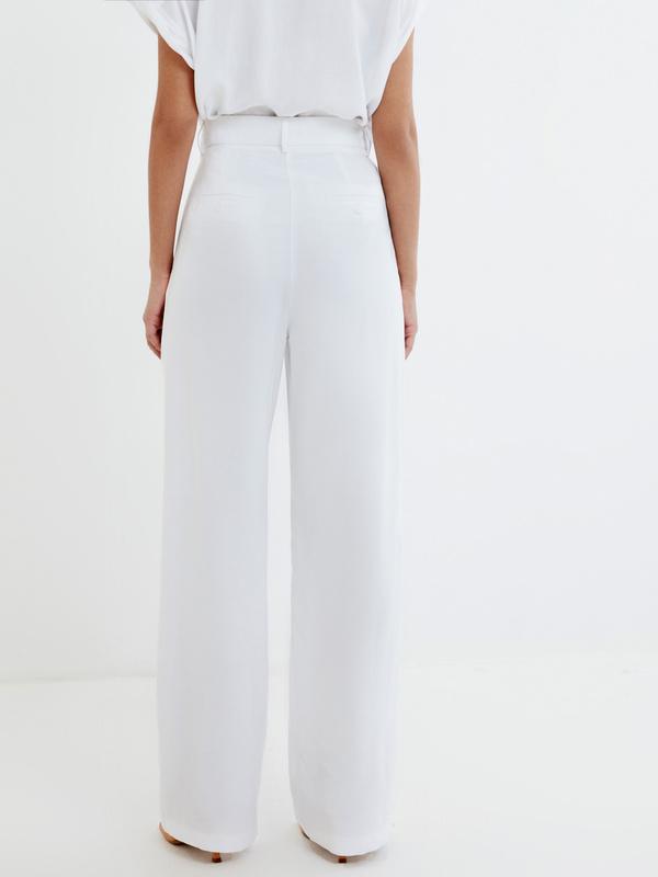 Широкие белые брюки - фото 4