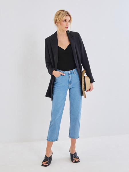 Брюки джинсовые женские фото