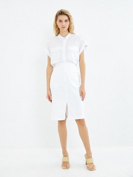 Хлопковая юбка с карманами