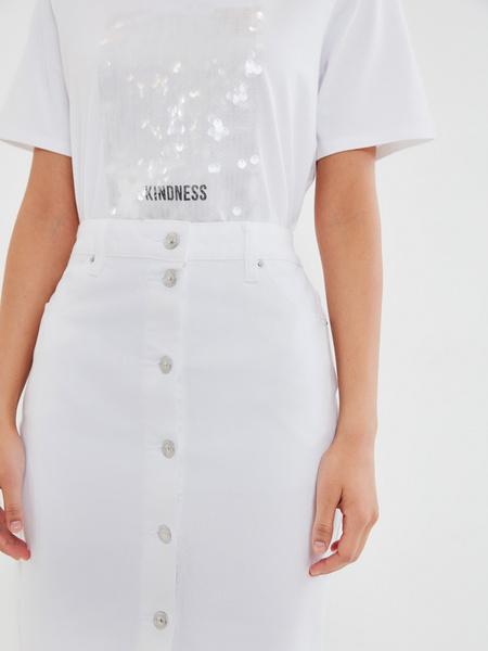 Джинсовая юбка-карандаш - фото 3
