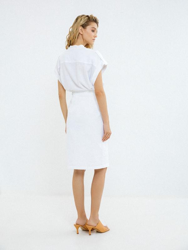 Хлопковая юбка с карманами - фото 4