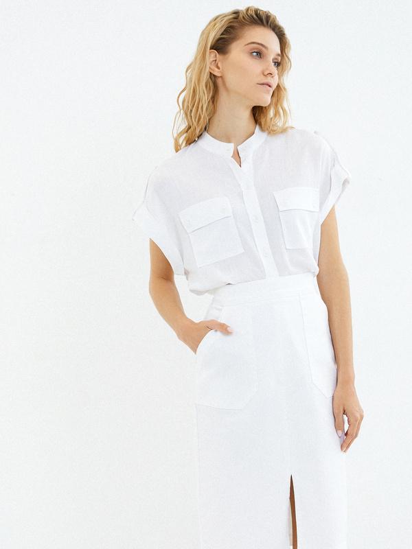 Хлопковая юбка с карманами - фото 5