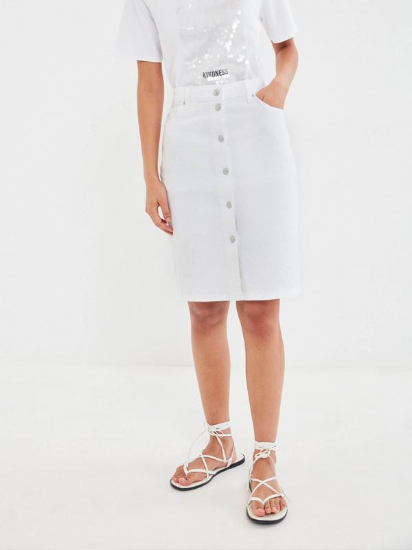 Джинсовая юбка-карандаш - фото 2