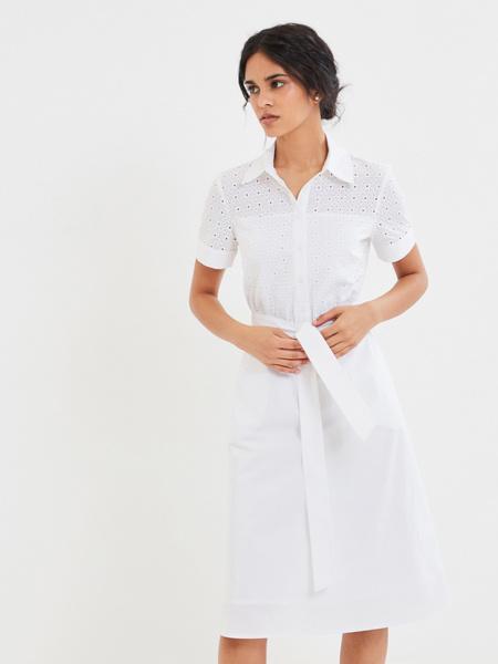 Белое платье из 100% хлопка - фото 1