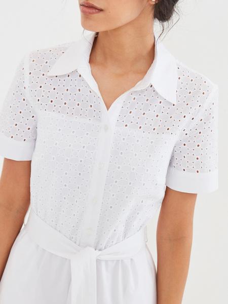 Белое платье из 100% хлопка - фото 2