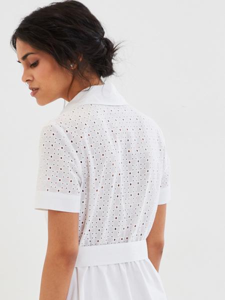 Белое платье из 100% хлопка - фото 5
