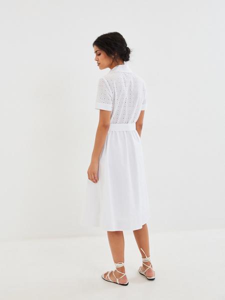 Белое платье из 100% хлопка - фото 6