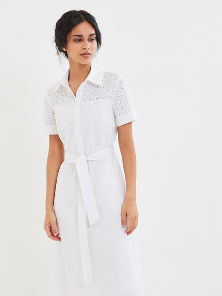 Белое платье из 100% хлопка - фото 7