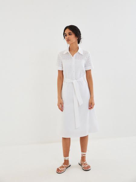 Белое платье из 100% хлопка - фото 8